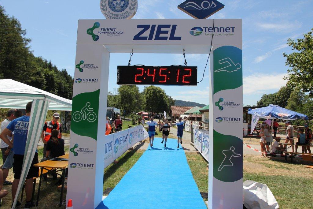 Triathlon Trebgast - Ziel